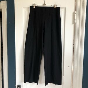 Eileen Fisher Black Wide-Leg Pants in Size Small